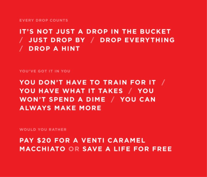 American Red Cross campaign ideas