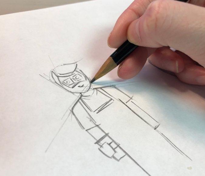 American Red Cross Sketch