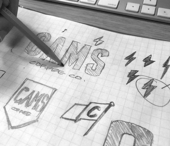 Cams branding sketch