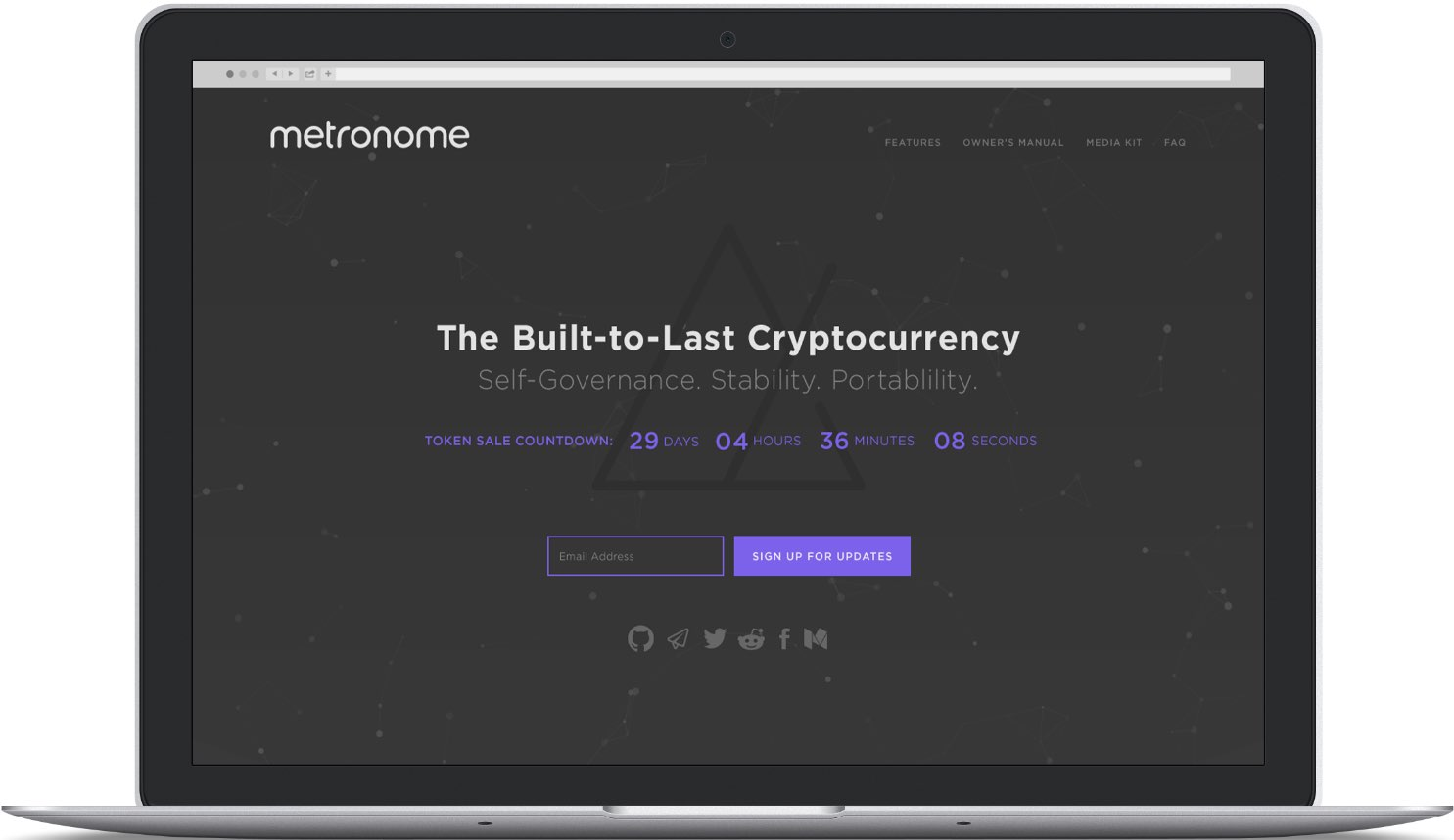 Metronome website on laptop