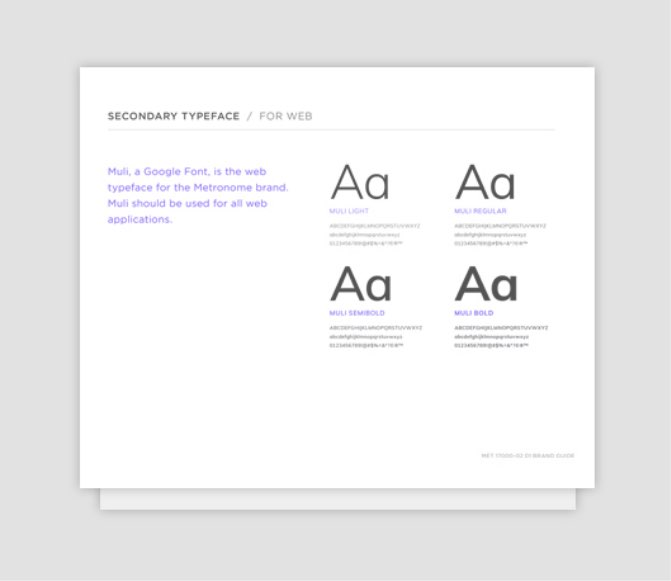Metronome Typeface Samples