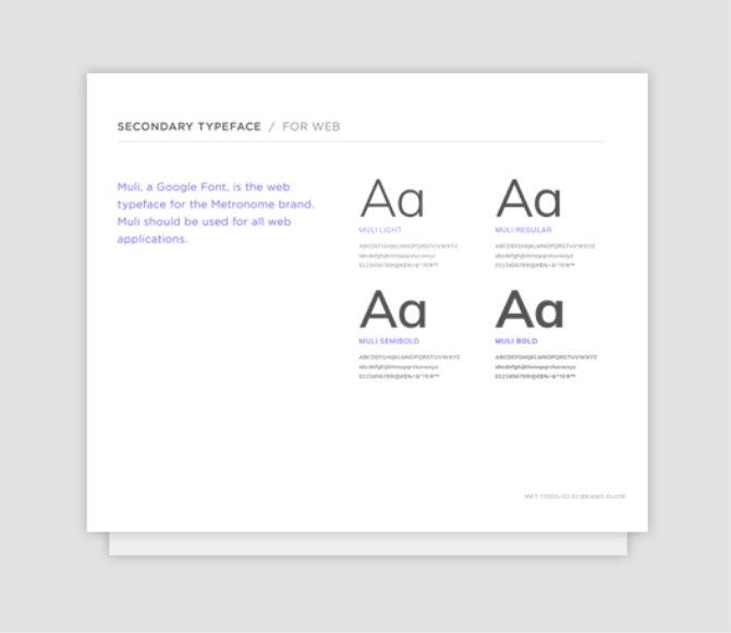 Metronome Typeface Samples