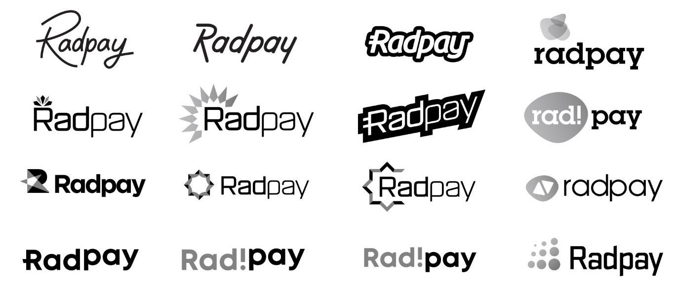 Radpay logo comps