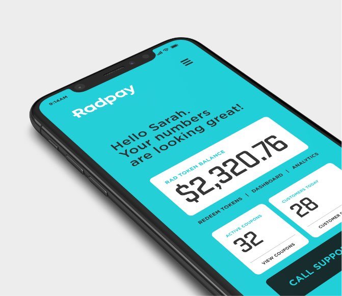 Radpay on mobile phone