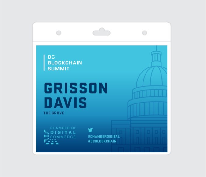 Chamber summit name badge
