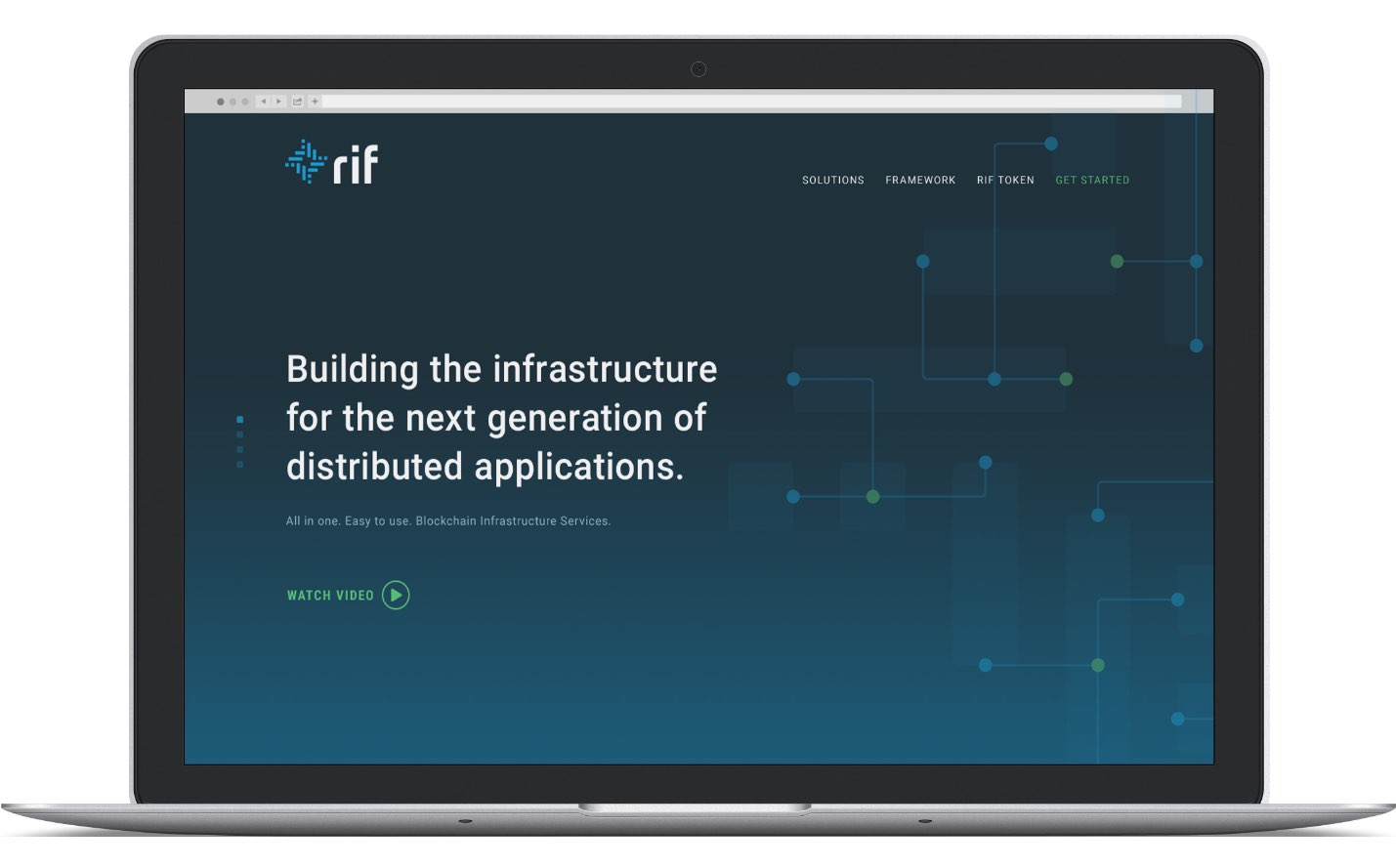 RIF website on laptop