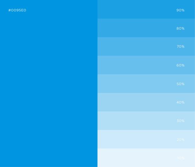 Light blue color palette