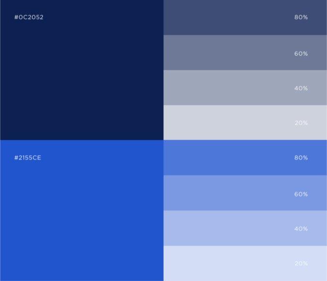 Dark blue color palette