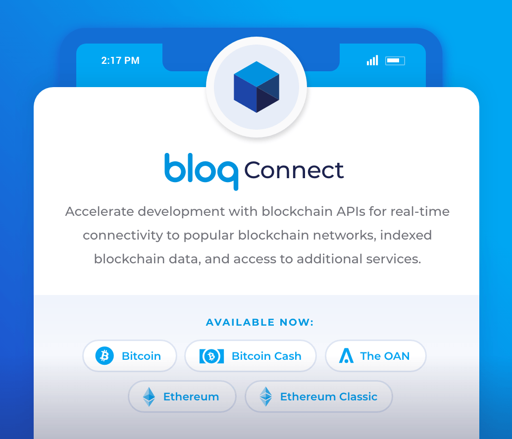 Bloq Connect banner