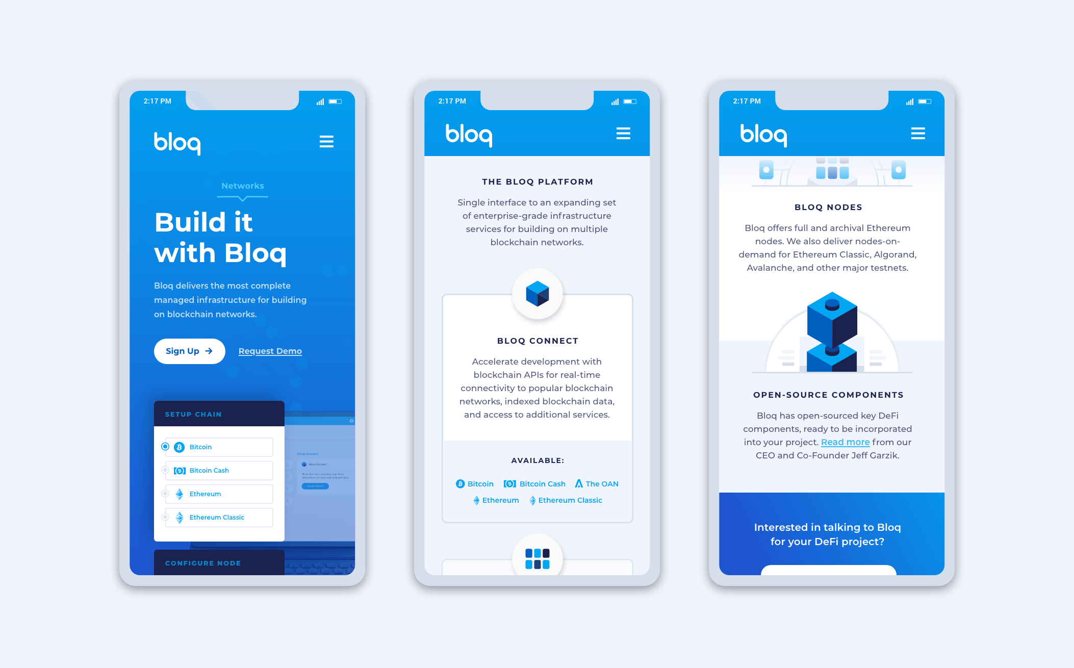 bloq mobile website previews