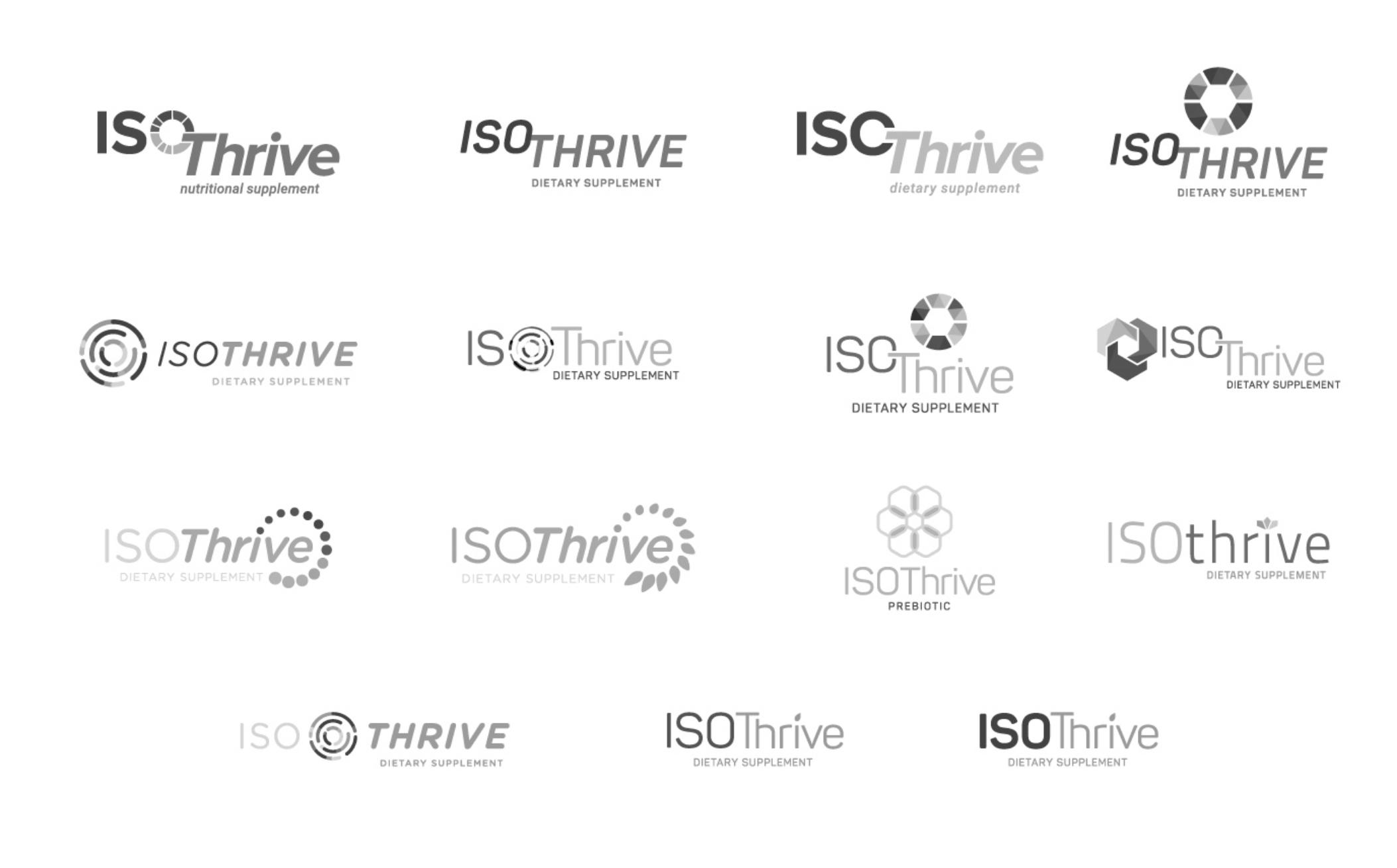 IsoThrive logo options