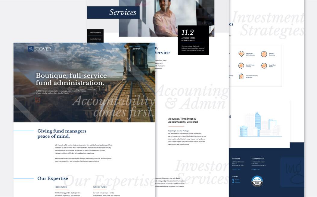 multiple screenshots of website