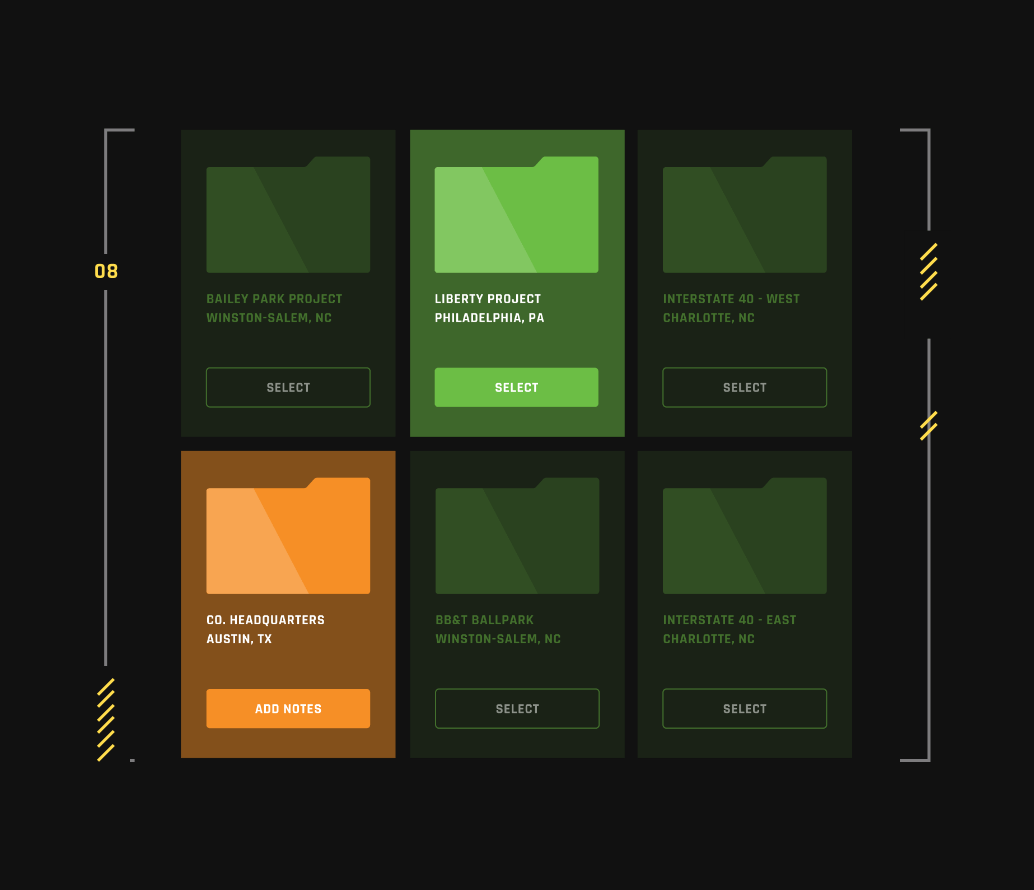 green and orange file icons