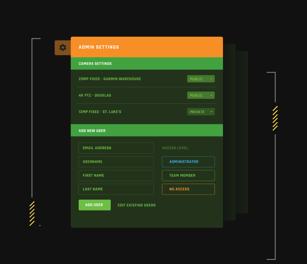 user interface example