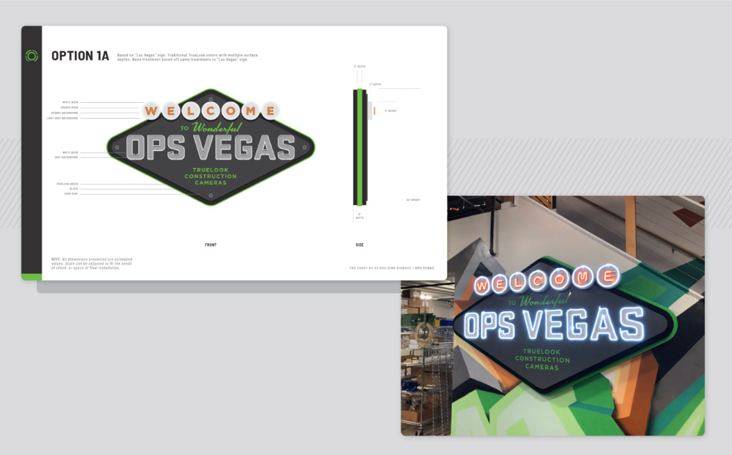sales booth sign design