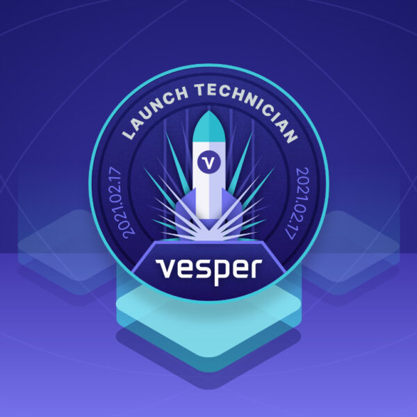 Vesper banner launch logo