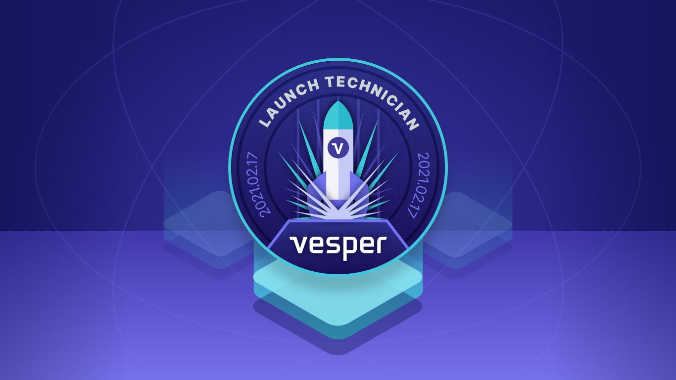 Vesper banner launch logo