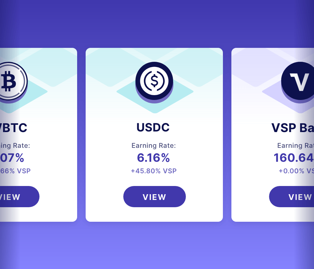 website banner cards with rates